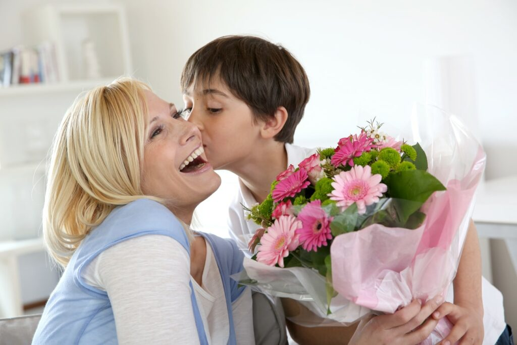 Young boy celebrating mother's day